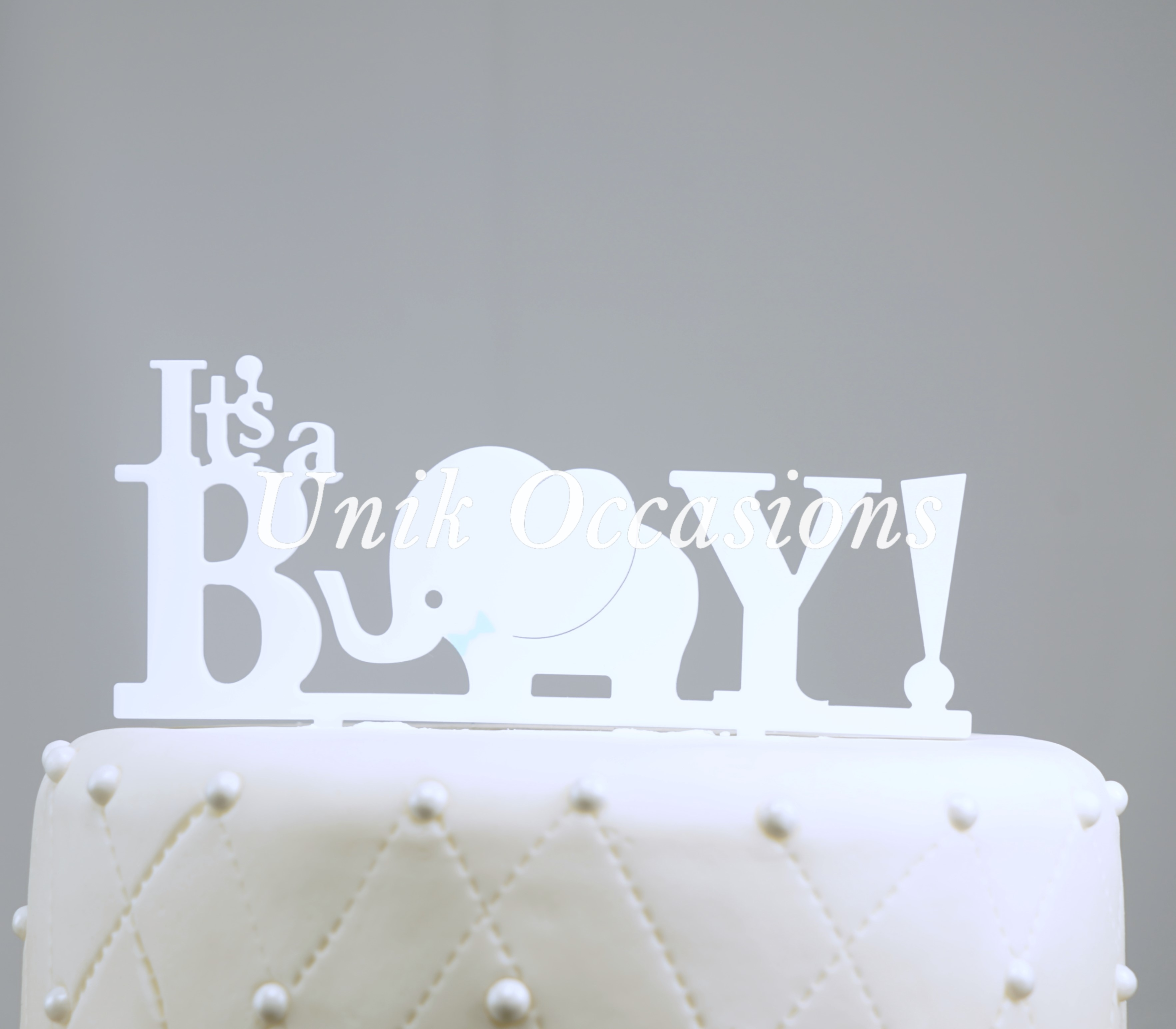 Unik Occasions It s A Boy Acrylic Baby Shower Cake Topper